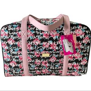 Luv by Betsey Johnson Floral Travel Weekender Bag NWT